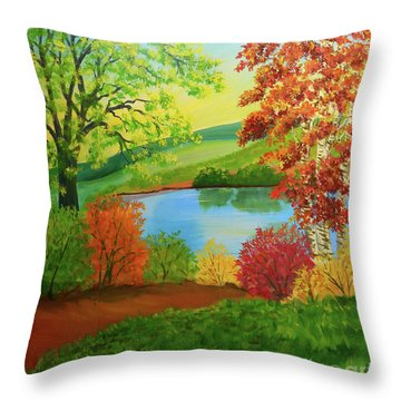 Luminous Colors Of Fall Throw Pillow