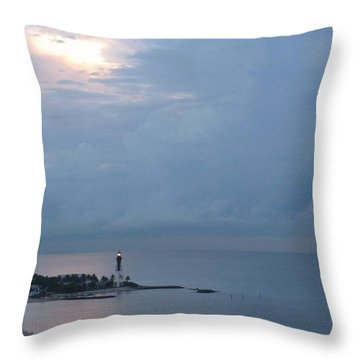 Luminous Lighthouse Throw Pillow