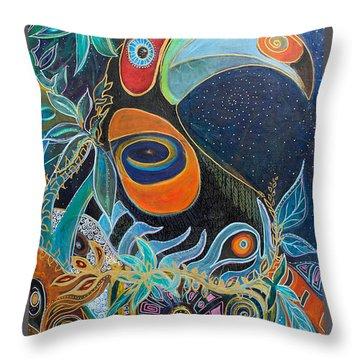 Luminous Throw Pillow by Leela Payne