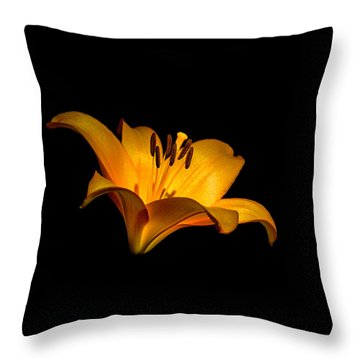 Luminous Lilly Throw Pillow by Len Romanick