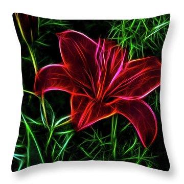 Luminous Lily Throw Pillow