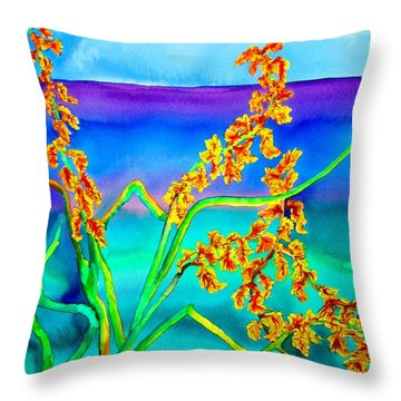 Throw Pillow featuring the painting Luminous Oats by Lil Taylor