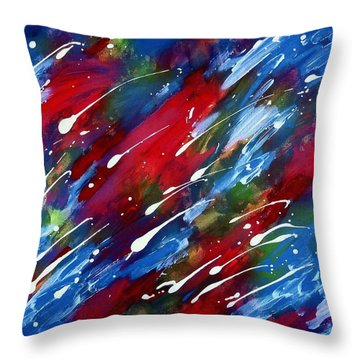 Luminous Rain Throw Pillow by Patrick Morgan