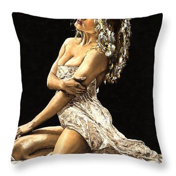 Luminous Throw Pillow by Richard Young
