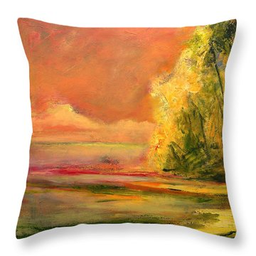 Luminous Sunset 2-16-06 Julianne Felton Throw Pillow