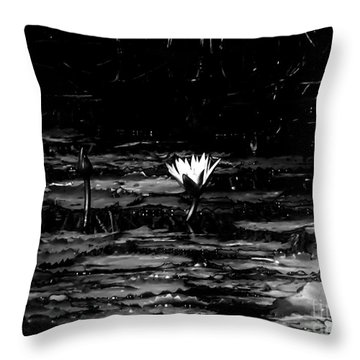 Luminous Water Lily  Throw Pillow