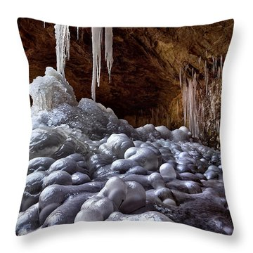Lumpy Ice Throw Pillow