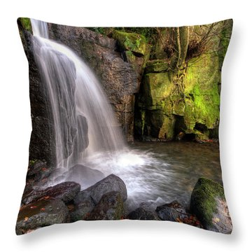 Throw Pillow featuring the photograph Lumsdale Falls 3.0 by Yhun Suarez