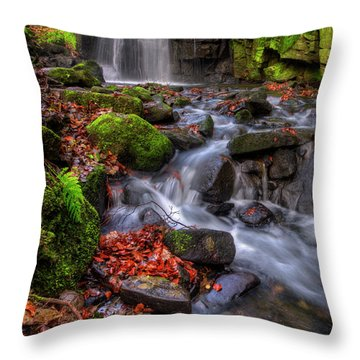 Throw Pillow featuring the photograph Lumsdale Falls 4.0 by Yhun Suarez
