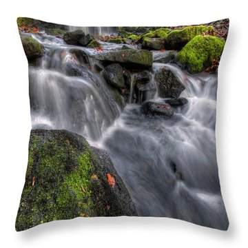 Throw Pillow featuring the photograph Lumsdale Falls 5.0 by Yhun Suarez