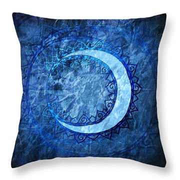 Throw Pillow featuring the digital art Luna by Kenneth Armand Johnson