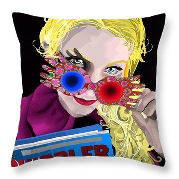 Luna Throw Pillow by Lisa Leeman