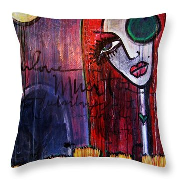Luna Our Love Muertos Throw Pillow