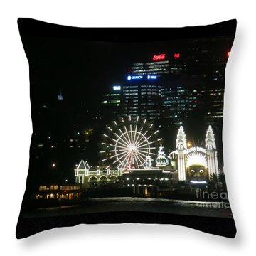 Luna Park Throw Pillow by Leanne Seymour