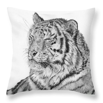 Luna Throw Pillow by Shevin Childers