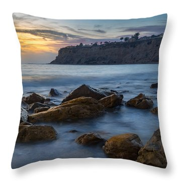Lunada Bay Throw Pillow by Ed Clark