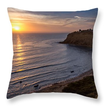 Lunada Bay Sunset Throw Pillow