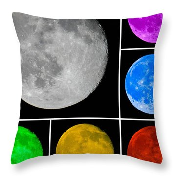 Lunar Color Shots 01 Throw Pillow