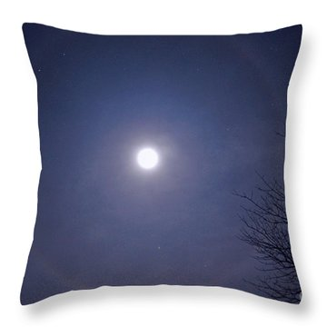 Lunar Corona Throw Pillow by Sue Stefanowicz