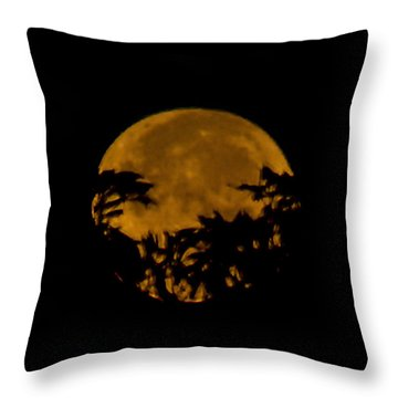 Lunar Crown Throw Pillow
