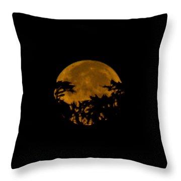 Lunar Crown Throw Pillow