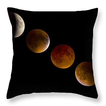 Lunar Eclipse 2015 Throw Pillow