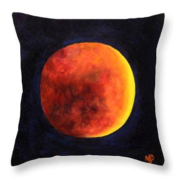 Lunar Eclipse Throw Pillow by Marina Petro