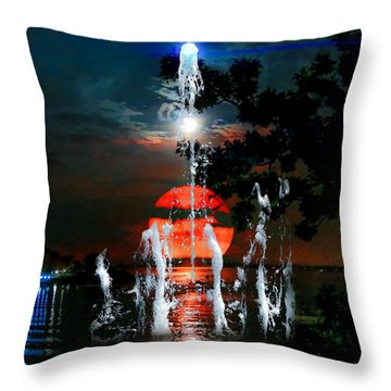 Lunar Event Horizon Throw Pillow