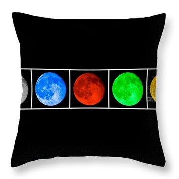Lunar Line Throw Pillow
