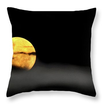 Lunar Mist Throw Pillow
