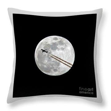 Lunar Silhouette Series 3 Of 3 Throw Pillow