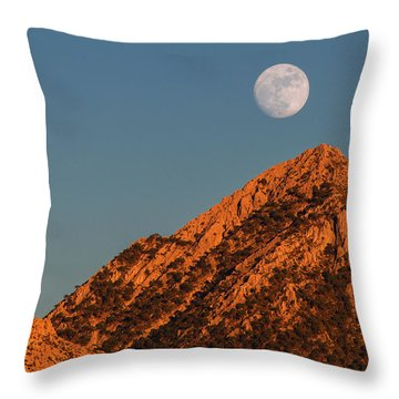 Lunar Sunset Throw Pillow
