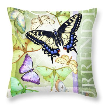 Lunar Surrender Throw Pillow