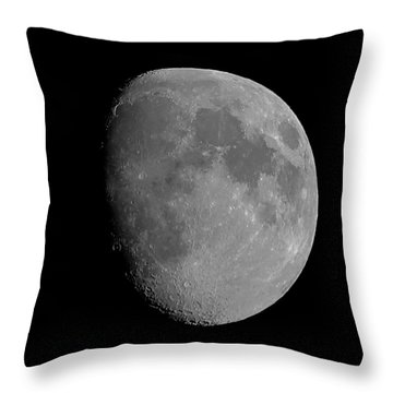 Lunarcy Over Cape Cod Canal Throw Pillow