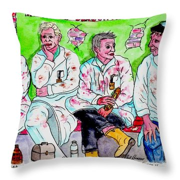 Lunch Break At The Slaughter House Throw Pillow
