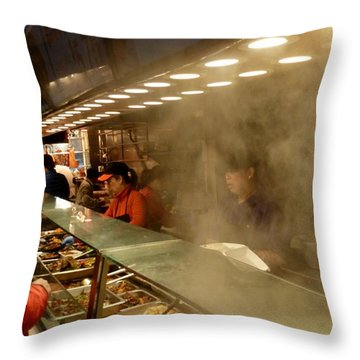 Lunch Counter In Flushing Throw Pillow