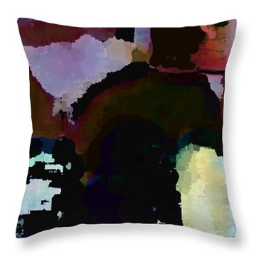 Throw Pillow featuring the painting Lunch Counter by Steve Karol