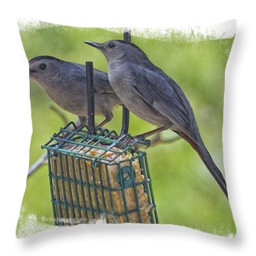 Lunch Date Throw Pillow by Constantine Gregory