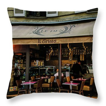 Lunch In Paris Throw Pillow