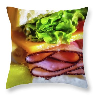 Lunch Is Served Throw Pillow