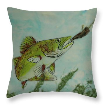 Lunch Throw Pillow by Terry Honstead
