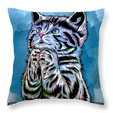 Lunch Time. Throw Pillow