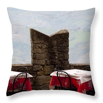 Lunch With A View Throw Pillow by Rae Tucker