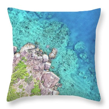 Throw Pillow featuring the photograph Luncheon Bay, Hook Island by Keiran Lusk