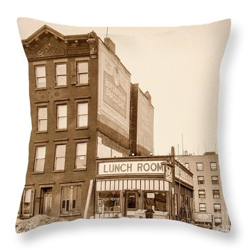 Throw Pillow featuring the photograph Lunchroom  by Cole Thompson