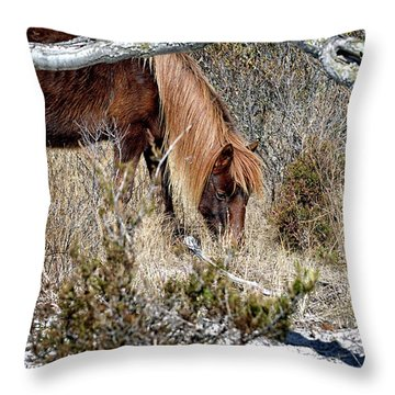 Lunchtime For Gokey Go-go Bones Throw Pillow