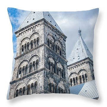 Throw Pillow featuring the photograph Lund Cathedral In Sweden by Antony McAulay