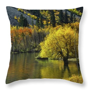 Lundy Lake Beauty Throw Pillow