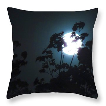 Luner Leaves Throw Pillow