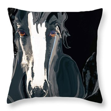Lungta Windhorse No. 2-energy Throw Pillow